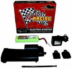 Electric Starter Kit - Complete with Starter Gun, 2 Back Plates, Battery, Charger and Wand Does not work with O.S. .21 engine now included with Earthquake 3.5 (Black Head)