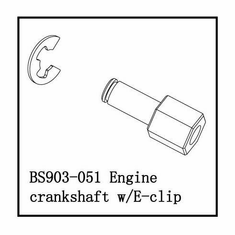 Engine Crankshaft with E-Clip ~