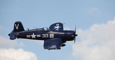 F4U Corsair, Blue, Plug N Play, 1700mm Brushless RC Airplane