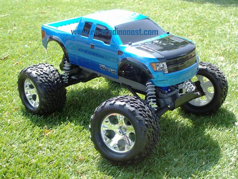 Ford F-150 SVT Raptor Custom Painted RC Monster Truck Body 1/10th (Stampede) (Painted Body Only)