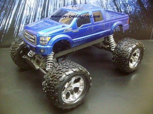 Ford F-250 2011 Super Duty Custom Painted RC Monster Truck Body 1/10th (Stampede) (Painted Body Only)