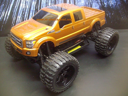 Ford F-250 2011 Super Duty Redcat Volcano EPX PRO Brushless 4X4 1/10th 40+MPH Electric RC Monster Truck Ready To Run Custom Painted With 2.4Ghz Radio, Waterproof Electronics, And 2S Lipo Battery!!!