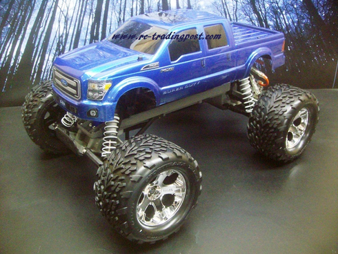 Ford F-250 2011 Super Duty Traxxas Stampede XL-5 1/10th 30+MPH Electric RC Monster Truck Ready To Run Custom Painted With 2.4Ghz Radio And Waterproof Electronics