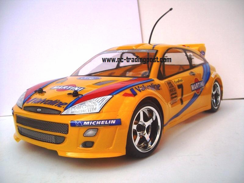 Ford Focus WRC Redcat Racing EP Brushless RTR Custom Painted Electric RC Street Cars Now With 2.4 GHZ Radio AND 2S Lipo Battery!!!