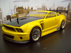 Ford Mustang GT-R Custom Painted RC Touring Car / RC Drift Car Body 200mm (Painted Body Only)