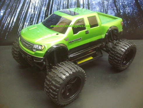 Ford Raptor SVT Super Crew Cab Redcat Volcano EPX 4X4 1/10th 20+MPH Electric RC Monster Truck Ready To Run Custom Painted With 2.4Ghz Radio And Waterproof Electronics