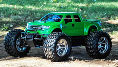 Ford Raptor SVT Super Crew Cab Redcat Volcano S30 4X4 1/10th 40+MPH Nitro RC Monster Truck Ready To Run Custom Painted With 2.4Ghz Radio System