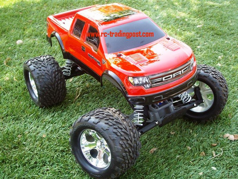 Ford Raptor SVT Super Crew Cab Traxxas Stampede XL-5 1/10th 30+MPH Electric RC Monster Truck Ready To Run Custom Painted With 2.4Ghz Radio And Waterproof Electronics