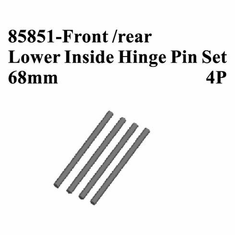 Front/Rear Lower Inside Hinge Pins, 4pcs (68mm)