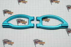 Aluminum Front Upper Arms, Blue (2pcs) ~