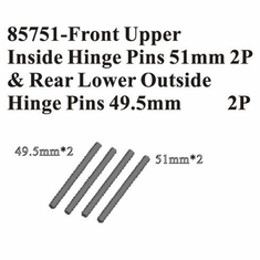 Front Upper Inside Hinge Pins 51mm (2P) and Rear Lower Outside Hinge Pins 49.5mm (2P)