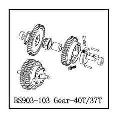 2 Speed Gear Assembly, 40T/37T