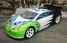 Green Sedan Redcat Racing Gas RTR Nitro RC Drift Cars Now With 2.4 GHZ Radio System!!!