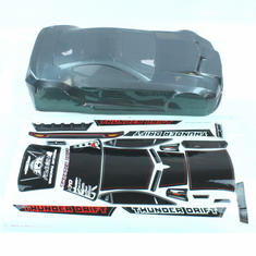 Gun Metal Body w/sticker  (All  plastic parts(Wing (w/wing mount), Mirrors w/chrome stickers (2), wipers (2), mounting hardware) are sold separately as part number BS205-049)