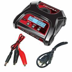 Hexfly HX-403 Dual Port LiPo LiFe Battery Charger. Charges 2 X 2S or 1 X 3S or 1 X 4S at a time. Output 3 Amp, Input AC100~240V/DC 10~18V