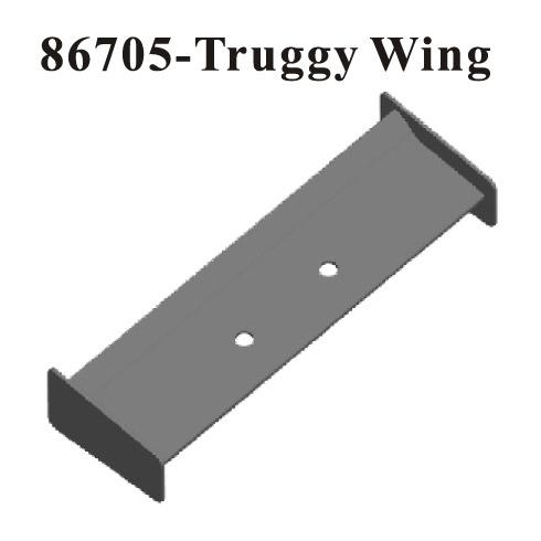 High down force Plastic Truggy Wing 1/8 ~