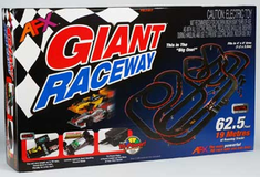 HO Slot Car Set Giant w/Lap Counter And Mega G+ System 62.5 Feet Of Running Track