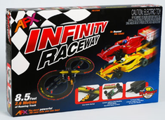 HO Slot Car Set Infinity W/ Mega G+ System 8.5 Feet Of Running Track