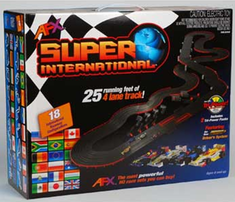 HO Slot Car Set Super International W/ Mega G+ System 50 Feet Of Running Track