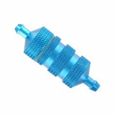 Large aluminum fuel filter (blue)