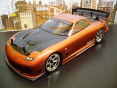 Mazda RX-7 Redcat Racing EP Brushless RTR Custom Painted Electric RC Street Cars Now With 2.4 GHZ Radio AND 2S Lipo Battery!!!