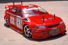 Mitsubishi Lancer Evolution VI Redcat Racing EP Brushless RTR Custom Painted Electric RC Street Cars Now With 2.4 GHZ Radio AND 2S Lipo Battery!!!