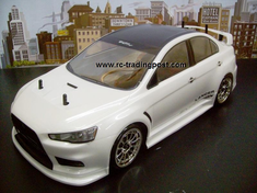 MITSUBISHI LANCER EVOLUTION X Redcat Racing EP Brushless RTR Custom Painted Electric RC Street Cars Now With 2.4 GHZ Radio AND 2S Lipo Battery!!!