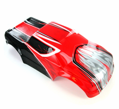 Monster Truck Body, Red, Black and Silver