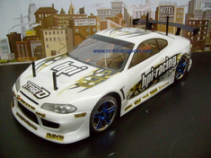 Nissan Silvia Redcat Racing EP Brushless RTR Custom Painted Electric RC Street Cars Now With 2.4 GHZ Radio AND 2S Lipo Battery!!!