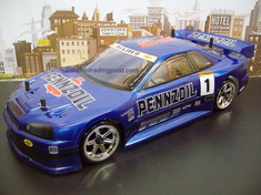 Nissan Skyline GT-R Redcat Racing Gas RTR Custom Painted Nitro RC Cars Now With 2.4 GHZ Radio System!!!