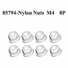 Nylon Nuts M4 8Pcs ~