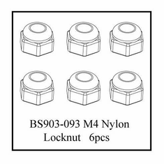 Nylon Lock Nut (4*4mm)   6pcs ~