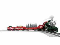 "O Gauge THE CHRISTMAS EXPRESS W/ BLUETOOTH Model Train Set Ready To Run 40"" x 60"""