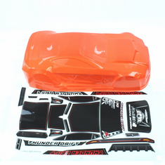 Orange body w/sticker  (All  plastic parts(Wing (w/wing mount), Mirrors w/chrome stickers (2), wipers (2), mounting hardware) are sold separately as part number BS205-049)