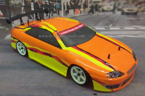 Orange Yellow Redcat Racing EP Brushless RTR Electric RC Drift Cars Now With 2.4 GHZ Radio AND 2S Lipo Battery!!!