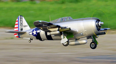 P-47 Razorback 1500mm Plug N Play Bonnie Brushless RC Airplane
