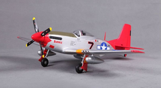 P-51 Red Tail, Plug N Play, 800mm Brushless RC Airplane
