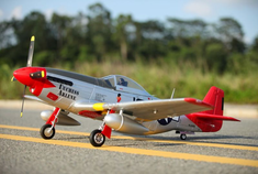 P-51D, Red Tail, V8, Plug N Play, 1450mm Brushless RC Airplane