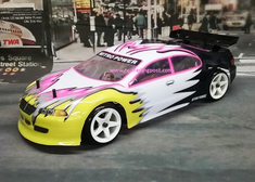 Pink Sedan Redcat Racing EP Brushless RTR Electric RC Drift Cars Now With 2.4 GHZ Radio AND 2S Lipo Battery!!!