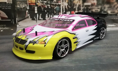 Pink Sedan Redcat Racing Gas RTR Nitro RC Cars Now With 2.4 GHZ Radio System!!!