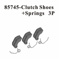 Plastic Clutch Shoes & 1mm Clutch Springs 3pcs ~