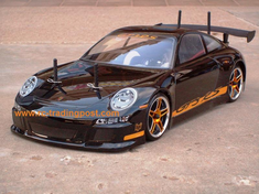PORSCHE 911 GT3 RS Redcat Racing EP Brushless RTR Custom Painted Electric RC Street Cars Now With 2.4 GHZ Radio AND 2S Lipo Battery!!!