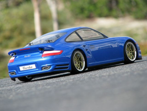 PORSCHE 911 TURBO (997) Custom Painted RC Touring Car / RC Drift Car Body 200mm (Painted Body Only)