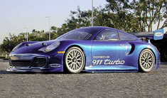 Porsche 911 Turbo Redcat Racing EP Brushless RTR Custom Painted Electric RC Street Cars Now With 2.4 GHZ Radio AND 2S Lipo Battery!!!