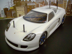 Porsche Carrera GT Redcat Racing EP Brushless RTR Custom Painted Electric RC Street Cars Now With 2.4 GHZ Radio AND 2S Lipo Battery!!!