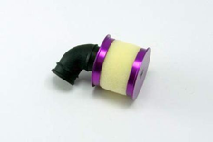 Aluminum capped air filter w/ element (purple)
