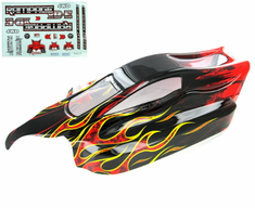 Rampage XB-E Body, Black with Red Flame