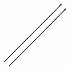 Receiver Antenna Tubes with Caps, 2pcs ~