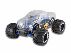 Rampage MT PRO 1/5 Scale Gasoline RC Monster Truck 4x4 Ready To Run With 2.4Ghz Radio System and Waterproof Electronics