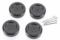Revell Pinewood Derby Official Boy Scout Wheel/Axle Blk